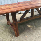 106 Year Old Reclaimed Dining Table - Bottom