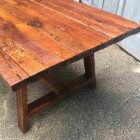 106 Year Old Reclaimed Dining Table - Edge