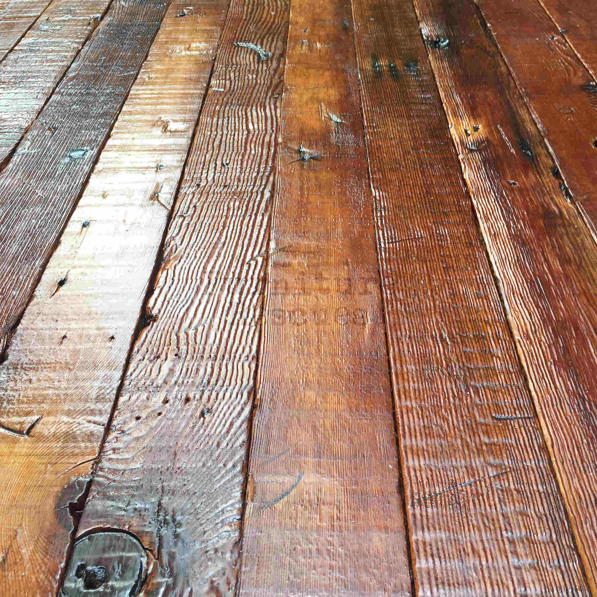 106-Year-Old Reclaimed Wood Dining Table - Furniture Rescues