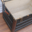 Antique Black Steamer Trunk - Inside Bottom