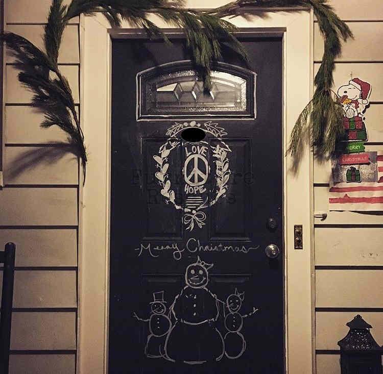 Front Door Christmas Drawings
