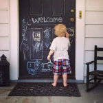 Chalkboard Paint Front Door Kids Graffiti