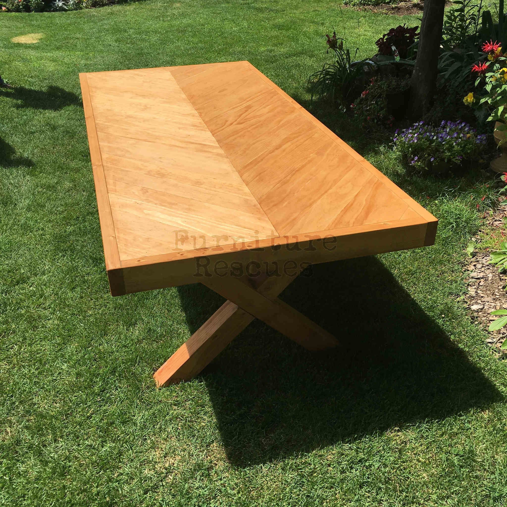 Farm Style Chevron Dining Table Furniture Rescues