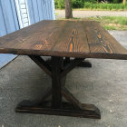 Farm Style Rustic Dining Table Side