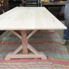 Farm Table And Rustic Bench Unfinished