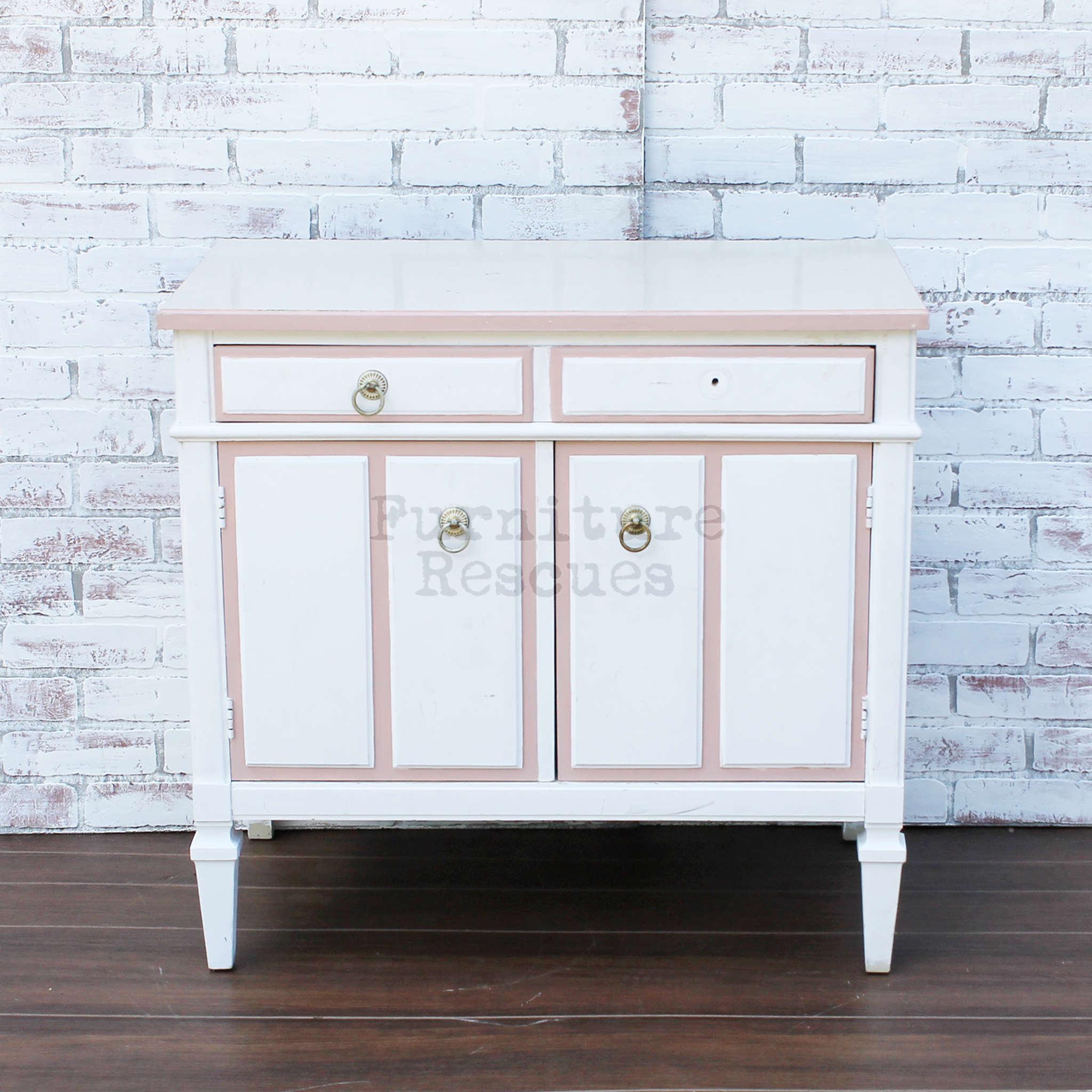 Kent Coffey Small White Cabinet