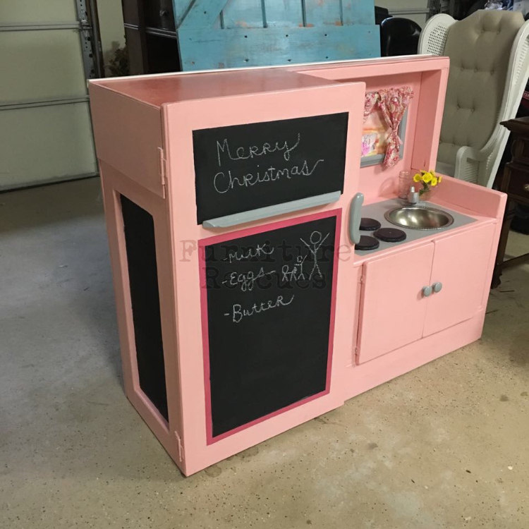 Tv Cabinet Made Into Play Kitchen: How-To Turn An Outdated Media Cabinet Into A Play Kitchen