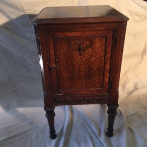 Ornate Depression Era Nightstand Floral Details
