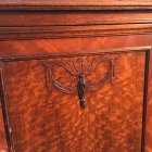 Ornate Depression Era Nightstand Floral Details Closeup
