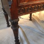 Ornate Depression Era Nightstand Floral Leg
