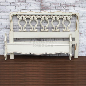 Ornate Full Size Headboard And Footboard - Front
