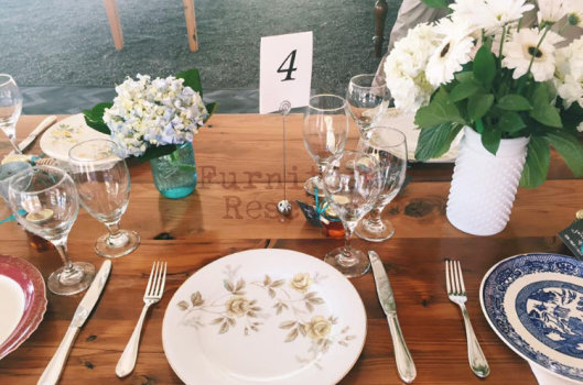 Rustic Country Wedding Tablescape