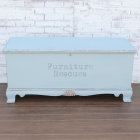Shabby Blue Lane Cedar Chest - Front