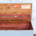 Shabby Blue Lane Cedar Chest - Front Right