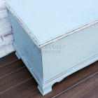 Shabby Blue Lane Cedar Chest - Left Side