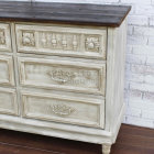 Six Drawer Chest With Reclaimed Wood Top – Right Side