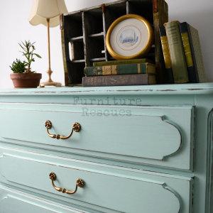 Summer Green Dresser Top Closeup