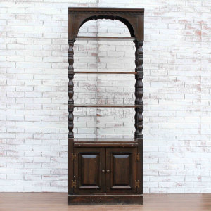 Tall Open Shelving Wall Display - Front With Shelves