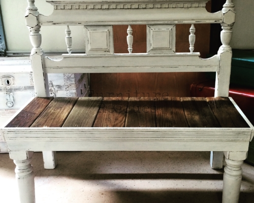 Upcycled Headboard Bench
